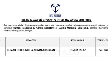 Sugiko Malaysia ~ Human Resource & Admin Assistant