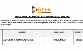 Syfe Management ~ Account & Admin Executive