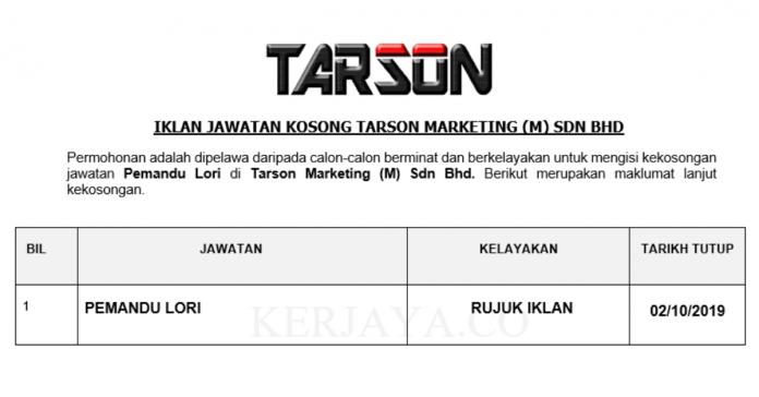 Tarson Marketing (M) Sdn Bhd