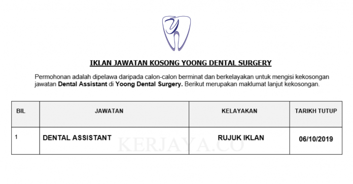 Yoong Dental Surgery ~ Dental Assistant