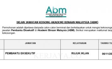 Akademi Binaan Malaysia (ABM) ~ Pembantu Eksekutif