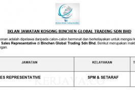 Binchen Global Trading ~ Sales Representative