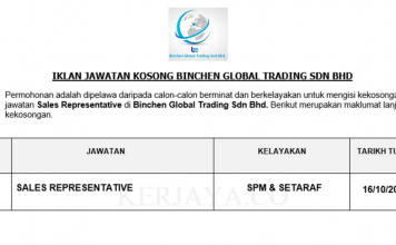 Binchen Global Trading ~ Sales Representative