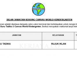 Canvas World Kindergarten ~ Guru Tadika