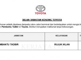 Toyota ~ Pembantu Tadbir