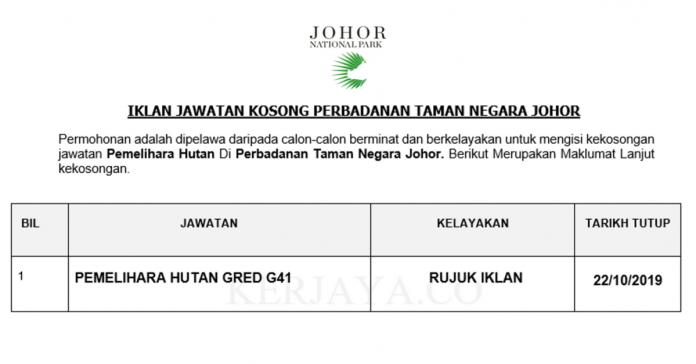 Perbadanan Taman Negara Johor ~ Pemelihara Hutan