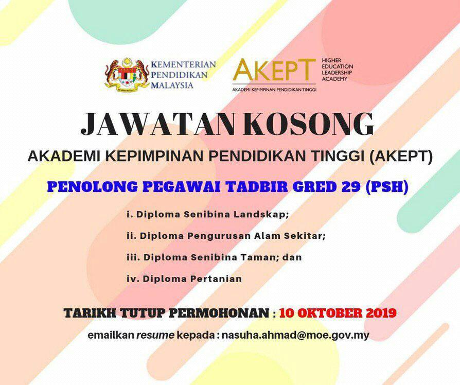 Iklan Jawatan Kosong Kementerian Pendidikan Malaysia Kerja Kosong Kerajaan