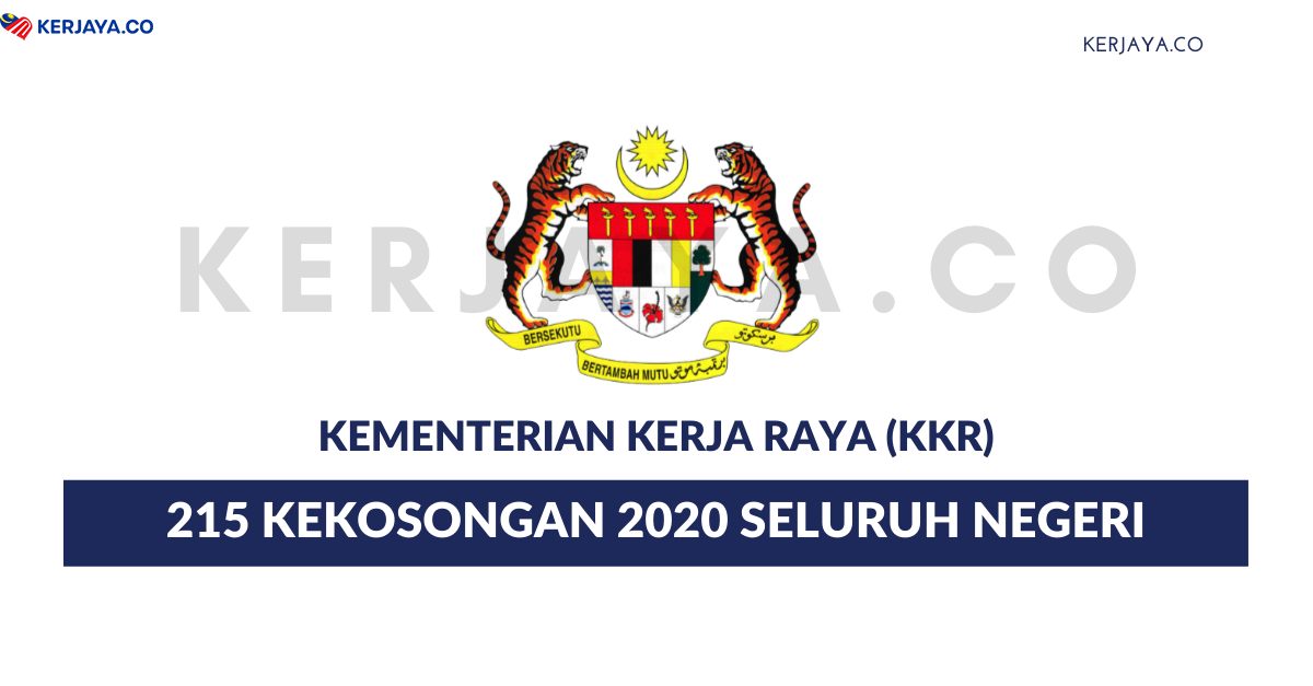 Jawatan Kosong Terkini Kementerian Kerja Raya Malaysia 215 Kekosongan Jawatan Pelukis Pelan Kerja Kosong Kerajaan Swasta