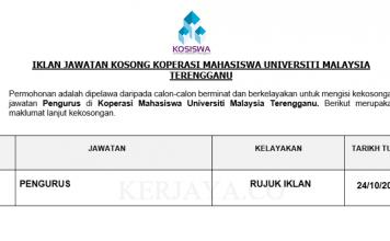 Koperasi Mahasiswa Universiti Malaysia Terengganu ~ Pengurus