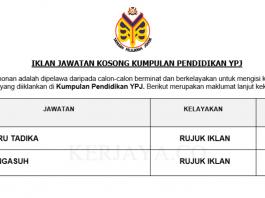 Guru Tadika & Pengasuh Yayasan Pelajaran Johor