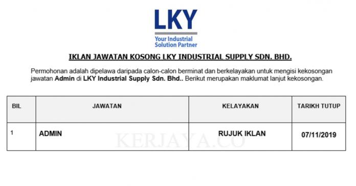 LKY Industrial Supply ~ Admin