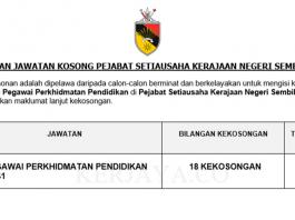 Pejabat Setiausaha Kerajaan Negeri Sembilan ~ Pegawai Perkhidmatan Pendidikan
