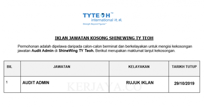 ShineWing TY Teoh ~ Audit Admin
