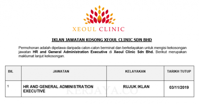 Xeoul Clinic ~ HR and General Administration Executive
