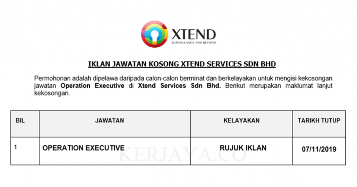 Xtend Services ~ Operation Executive