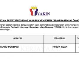 Yayasan Kemajuan Islam Nasional (YAKIN) ~ Pemandu Peribadi