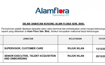 Alam Flora ~ Eksekutif & Supervisor