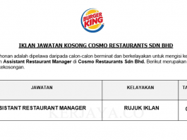 Cosmo Restaurants ~ Assistant Restaurant Manager