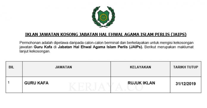 Jabatan Hal Ehwal Agama Islam Perlis (JAIPs) ~ Guru Kafa