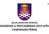 Jawatan Kosong Akademik & Pentadbiran 2019 UiTM Cawangan Perak