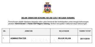 Kelab Golf Negara Subang ~ Administrator