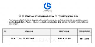 Londonsales Cosmetics ~ Beauty Sales Advisor