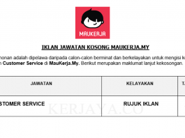 MauKerja.My ~ Customer Service
