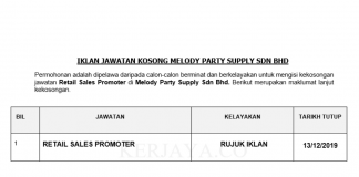 Melody Party Supply ~ Retail Sales Promoter