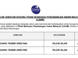 Pihak Berkuasa Penerbangan Awam Malaysia (CAAM) ~ Pegawai Tadbir