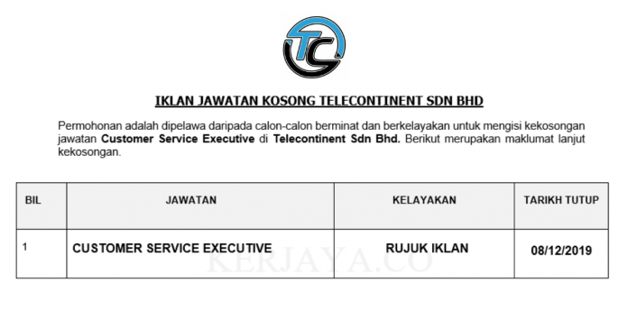 Telecontinent ~ Customer Service Executive