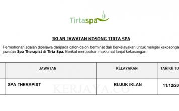 Tirta Spa ~ Spa Therapist