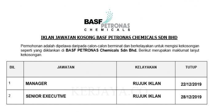 BASF PETRONAS Chemicals ~ Manager & Finance Executive
