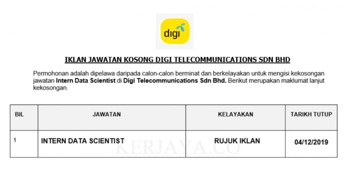 Digi Telecommunication ~ Interns Data Scientist