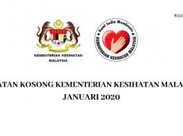 Kementerian Kesihatan Malaysia (KKM) ~ Sesi Januari 2020