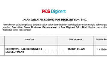 Pos Digicert ~ Executive, Sales Business Development