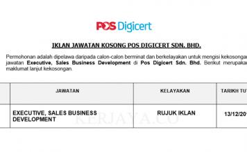 Pos Digicert ~ Executive, Sales Business Development