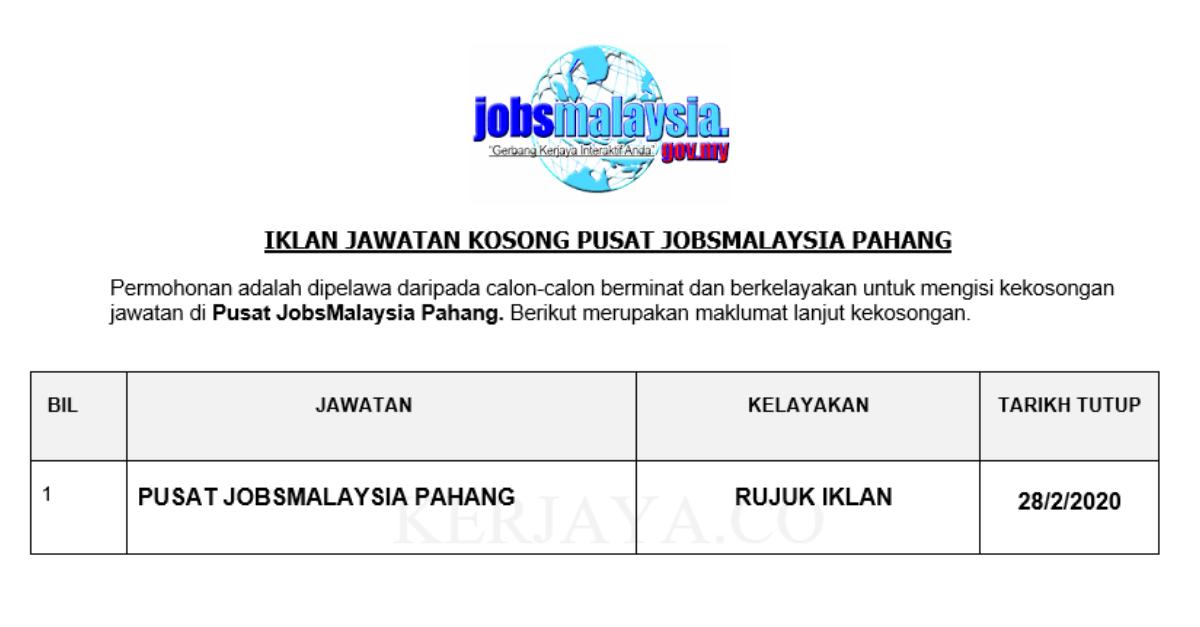Pusat JobsMalaysia Pahang
