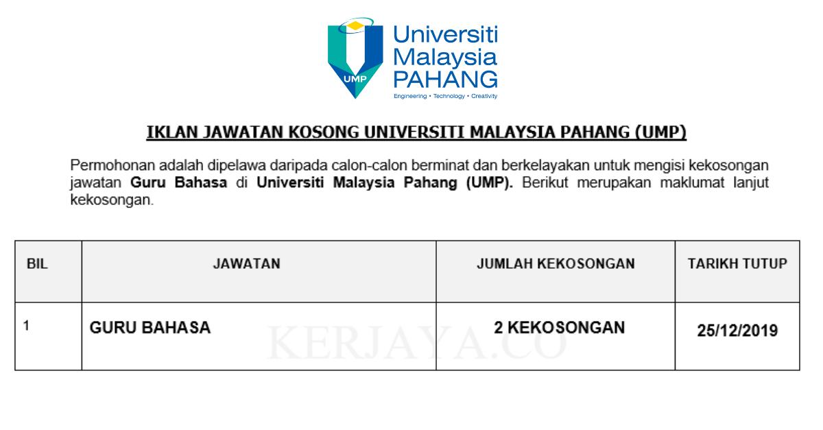 Guru Bahasa di Universiti Malaysia Pahang (UMP)