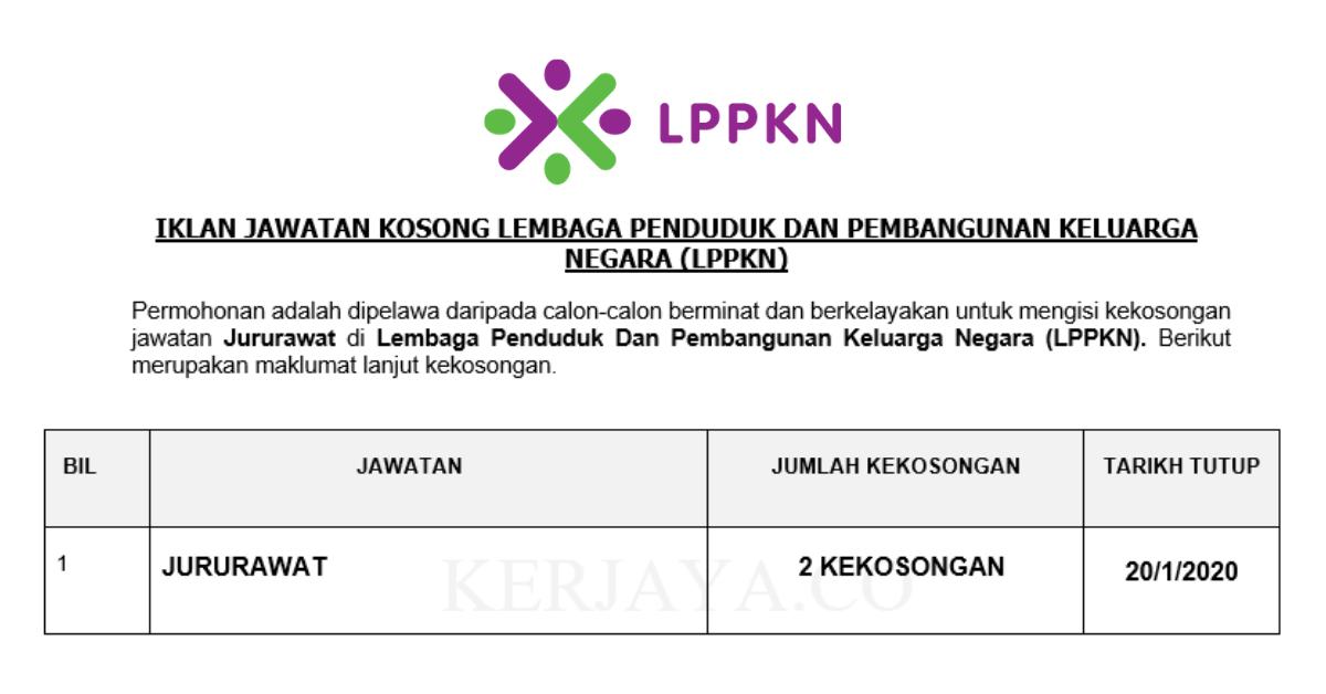 Lembaga Penduduk Dan Pembangunan Keluarga Negara (LPPKN) ~ 2 Kekosongan Jawatan Jururawat