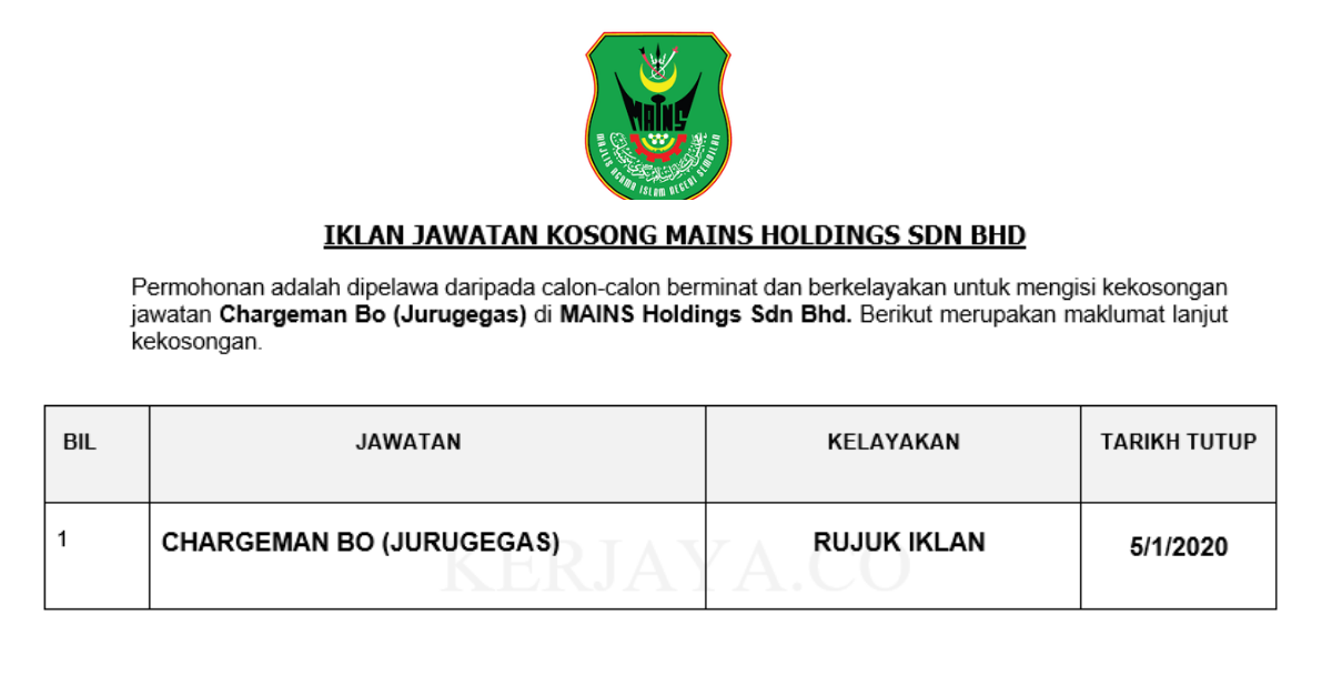 MAINS Holdings Sdn Bhd