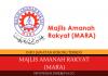Majlis Amanah Rakyat (MARA) ~ Pembantu Tadbir, Pembantu Operasi, Pegawai Ehwal Ekonomi & Pelbagai Jawatan