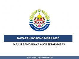 Majlis Bandaraya Alor Setar (MBAS) ~ Pegawai Kesihatan Persekitaran, Pegawai Perancang Bandar & Desa & Pelbagai Jawatan Lain