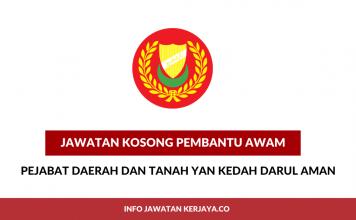 Pembantu Awam Pejabat Daerah dan Tanah Yan Kedah Darul Aman