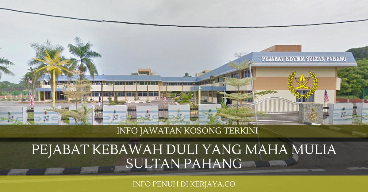 Pejabat Kebawah Duli yang Maha Mulia Sultan Pahang ~ Pembantu Operasi