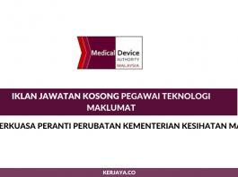Pihak Berkuasa Peranti Perubatan Kementerian Kesihatan Malaysia ~ Pegawai Teknologi Maklumat