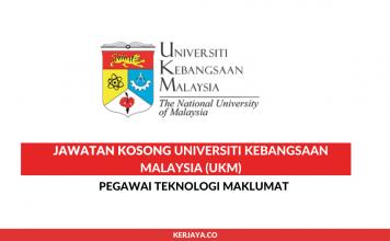 Universiti Kebangsaan Malaysia ~ Pegawai Teknologi Maklumat