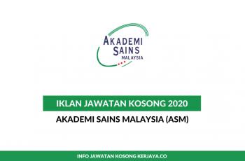 Akademi Sains Malaysia (ASM) ~ Pelbagai Jawatan