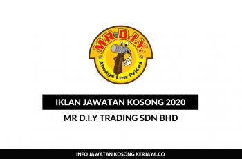 MR D.I.Y Trading ~Pengurus Sumber Manusia, Eksekutif Pemasaran & Pelbagai Jawatan
