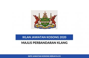 Majlis Perbandaran Klang ~ Pembantu Tadbir, Pembantu Operasi, Pembantu Kesihatan Awam & Pelbagai Jawatan