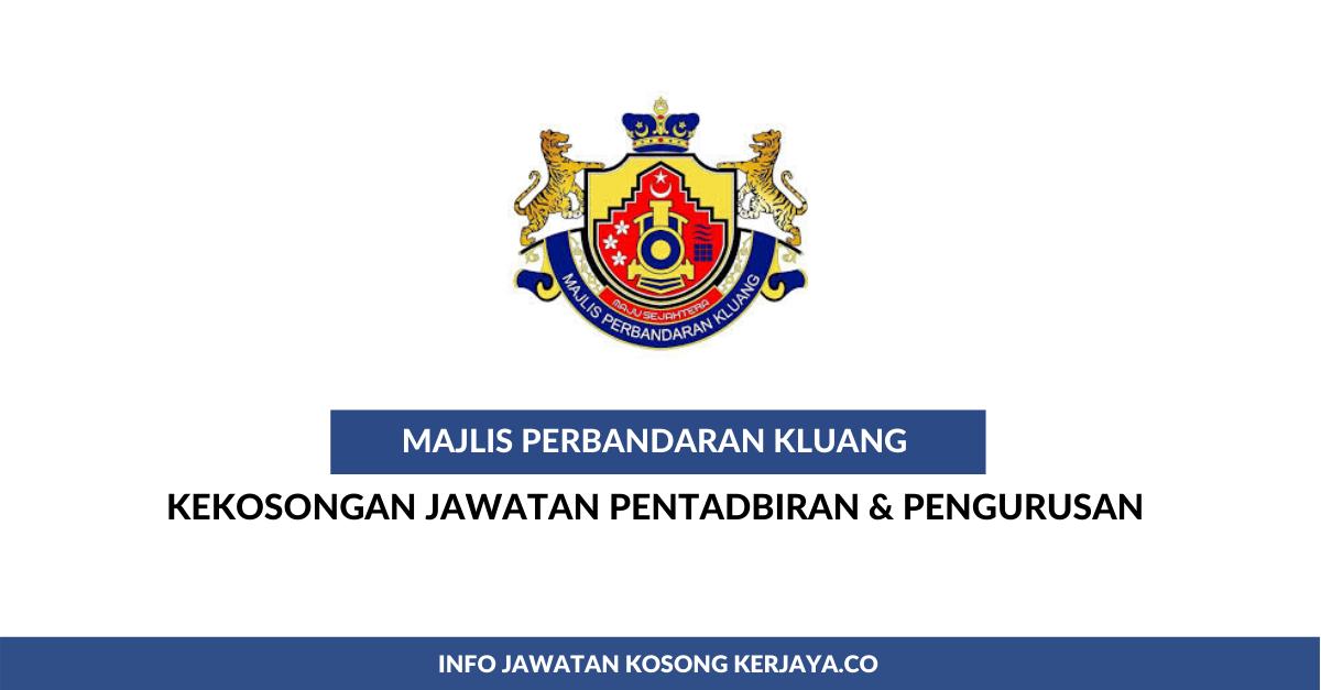 Majlis Perbandaran Kluang Mpkluang Kerja Kosong Kerajaan